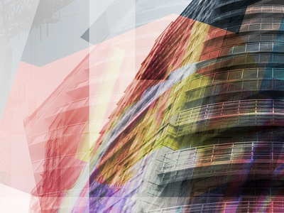 Timelapsed abstract art architecture