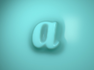 A 3d animation logo icon branding 3d typography