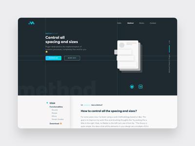 Method Sketch Plugin web 3.0 webdesign plugin skecth typography animation ui branding web ux design