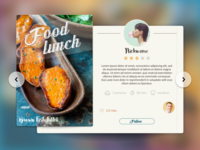 Food card - tablet app