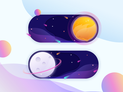 Daily UI challenge #015 --> On/Off Switch on off gradient design toggle button switch illustration visual ux ui dribbble concept dailyui