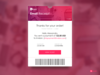 Daily UI challenge #017 -->   Email Receipt