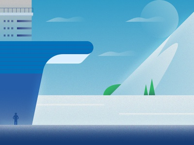 36daysoftype_2 mountain landscape ship sea design illustration 36daysoftype 36