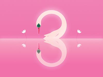 36daysoftype_3 design illustration swan 3 36daysoftype 36