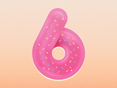 36daysoftype_6 donuts design illustration donut 6 36daysoftype-6 36