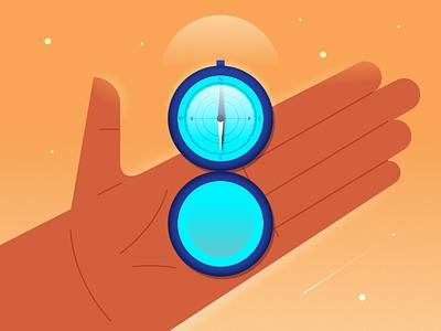 36daysoftype_8 design illustration hand compass number 8 36daysoftype 36