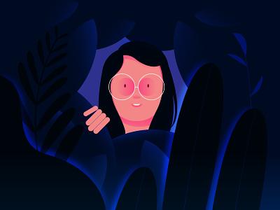 Heaven05 character plants lady heaven girl forest design illustration