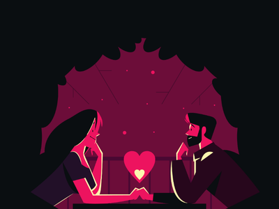 DATE NIGHT💕 couple night hot romance date night date design illustration