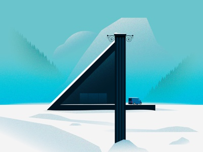 4 ice winter 36 4 4 36 36daysoftype design illustration