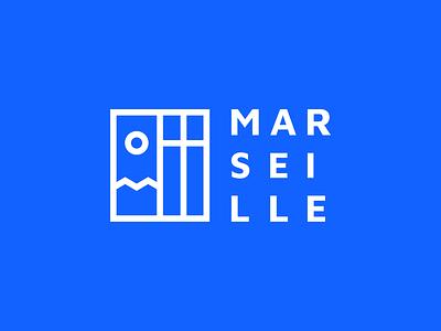 Ville de Marseille - Nouvelle identité orange sun sea marseille logo identity france europe city brand blue