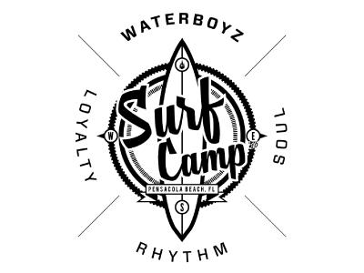 Surf Camp logo surfing surf surfboard waterboyz