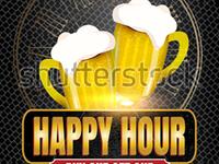 Stock Vector Happy Hour Free Beer With Beer Mug Banner