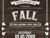 Website  autumn Banner Design template of invitation