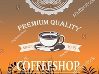 Stock Vector Coffee Shop Logo & Flyer Invitation