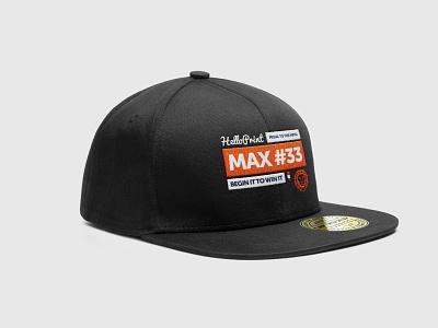 Helloprint supporting Max Verstappen snapback maxverstappen formule1 formula1 slogan cmyk artwork snapback merchandisedesign capdesign cap