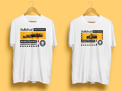 Helloprint support Max Verstappen T-shirt sports sportsbranding corporatebranding tshirt design tshirts companybranding branding formula1 maxverstappen tshirt art tshirtdesign tshirt