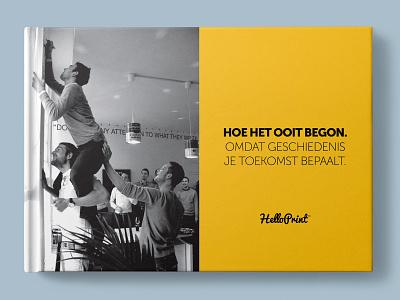 Helloprint Historybook 2.0 bookcoverdesign photography photoshop corporate branding corporate identity corporate design companybook bookcover bookdesign book