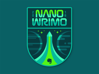 NaNoWriMo Space Badge