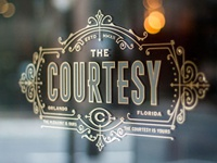 The Courtesy Bar : Window Sign