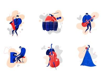 Jazzy art design graphic design musicians music artwork illustration jazz