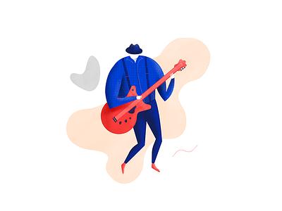Jazzy Guitar art design graphic design musicians music artwork illustration jazz guitarist guitar