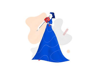 Jazzy Violin art design graphic design musicians music artwork illustration jazz violin