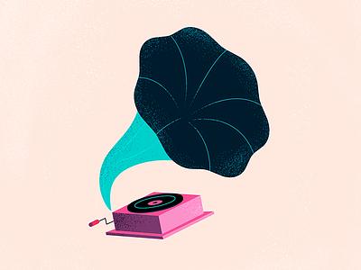 Gramophone art design graphic design artwork illustration gramophone