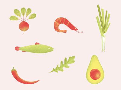 Healthy Set art design graphic design artwork illustration vegetables diet healhy food food