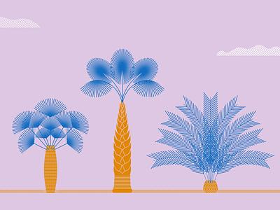 Palm trees art design graphic design artwork illustration palm tress