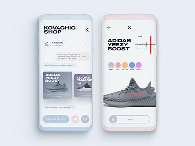 Clothes shop UI shot clothes store design site minimal trand inspiration app minimalism ui ux trend 2018
