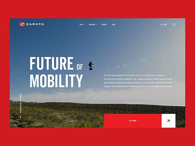 Future of Mobility – Motion Exploration ux future yogesh animation ui design jetpack hoverboard aviation automobile automotive futuristic ui animation motion design web design