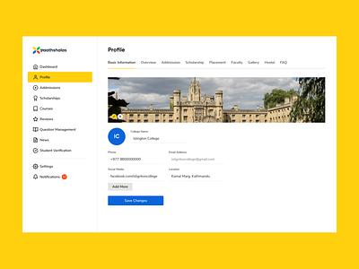 College Profile – Paathshalas ux yogesh saas profile university college minimal web design ui