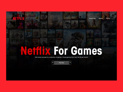 Netflix For Games – Motion Exploration gaming ux yogesh cloud gaming netflix motion design web design animation ui