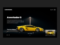 Lamborghini Landing Page Design Concept