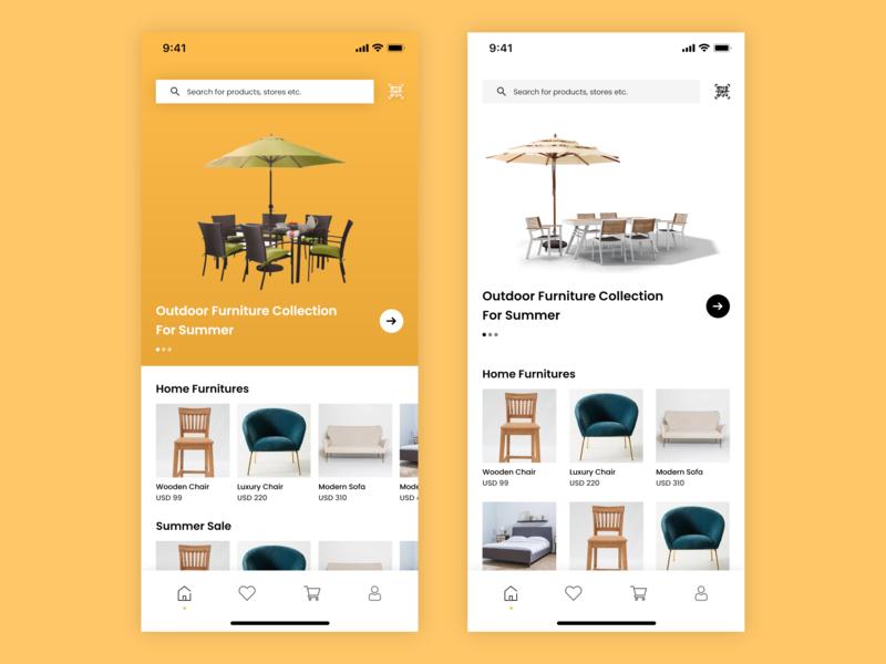 Efur - Furniture E-commerce App user experience app design ux daily 100 app concept dailyui graphicsdesign design app ui user inteface ui