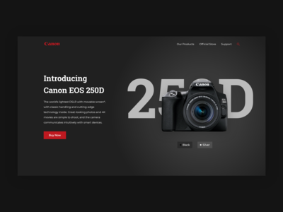 Canon EOS 250D - Canon Home Web Concept