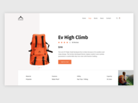 Everest - Travel Products Website Concept