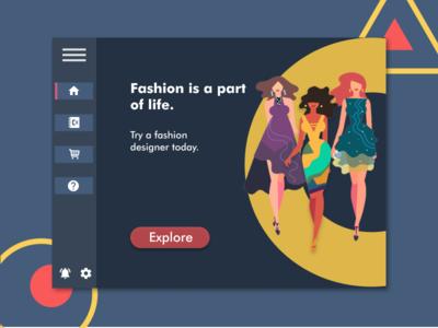 Fashion Web App ui