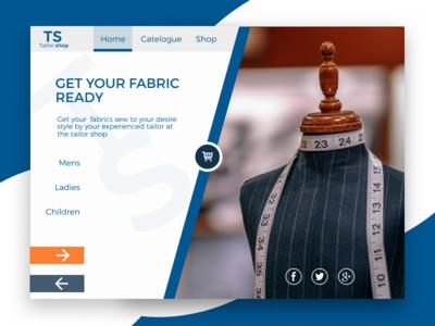 A simple fabric website ui