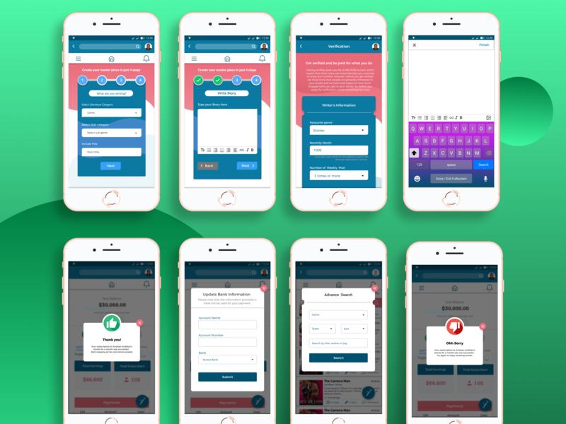 Tushstories Mobile textbox error message success message app-ui steps design uidesign ui appdesign figma