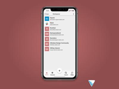 Slack Navigation redesign
