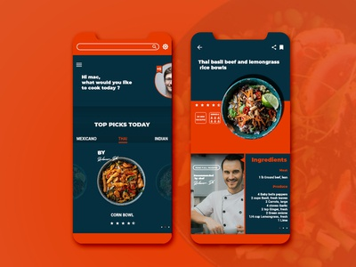 recipe mobile app UI design