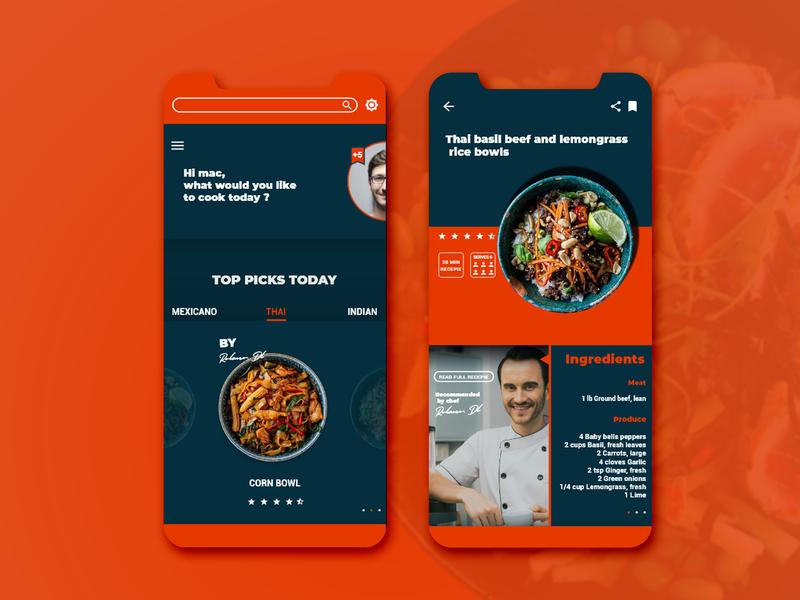 recipe mobile app UI design mobile ui mobile app app design ui uiux uidesign