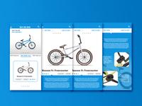 bicycle app UI