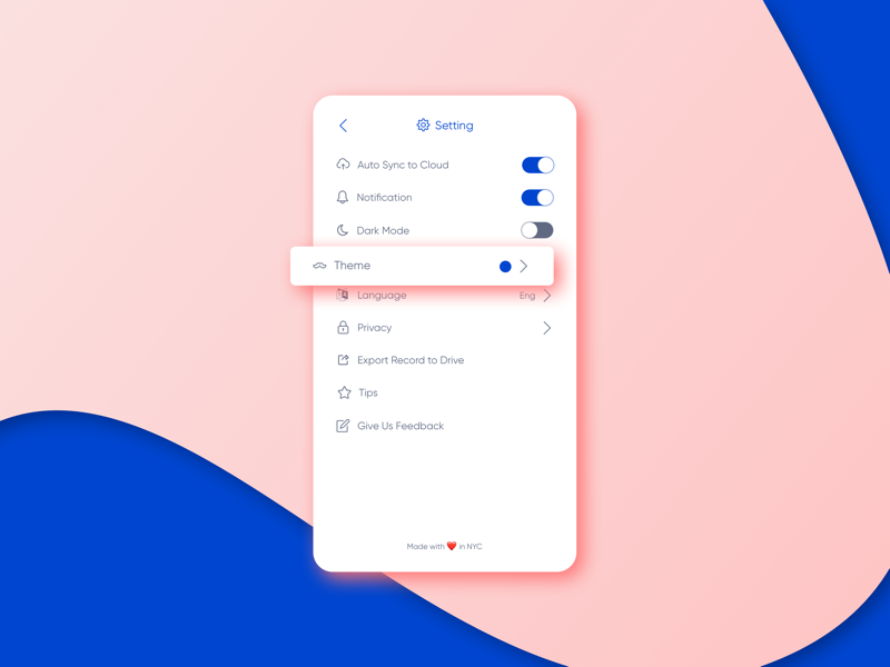 Day 7 - setting page mobile ux ui design