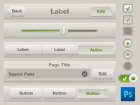 Light GUI Kit PSD + slicing for iPhone/iPad Retina