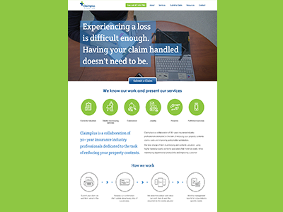 Landing Page Design for Claimplus