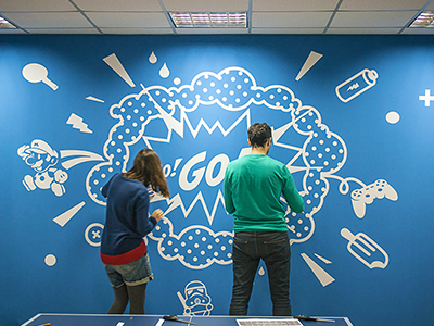 Game Room Wall Design By Intersog Dribbble Dribbble