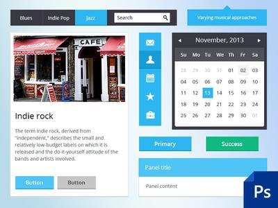 Bootstrap 3 Flat UI  - PSD+HTML