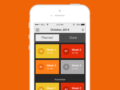 Schedule Planner - new design concept